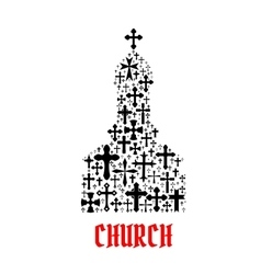 Church icon Religion cross christianity symbols vector image