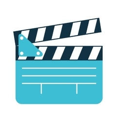 Clapper clapperboard film icon vector