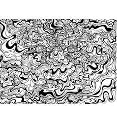 coloring page psychedelic alien eyes with waves vector image