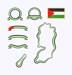 Colors of palestine vector