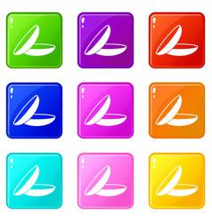 Contact lenses set 9 vector