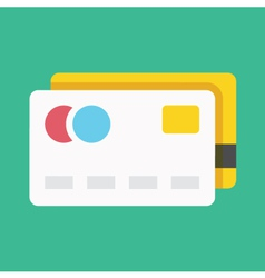 Credit cards icon vector