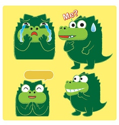 crocodileActing03 vector image