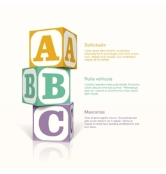 cubes with letter vector image