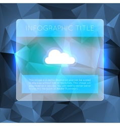 Dark blue infographics options banner vector image