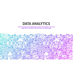 Data analytics concept vector