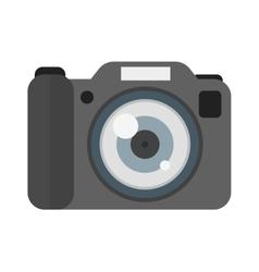 Digital flat photo camera isolated vector
