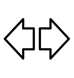 Direction arrow dashboard icon outline style vector
