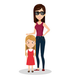 Family members on vacations vector