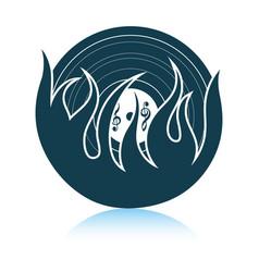 Flame vinyl icon vector