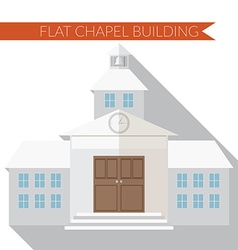 Flat design modern of chapel or wedding church vector image