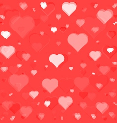 flying hearts seamless pattern vector image