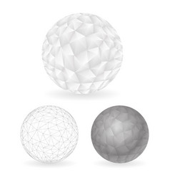 geometric design low polygonal sphere template vector image