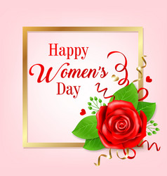 greeting card for womens day vector image