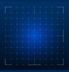 Grid for futuristic hud interface vector