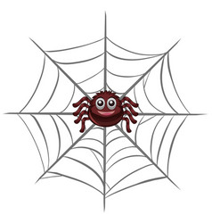 Happy spider on the web vector