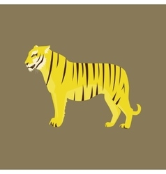 In flat style tiger vector