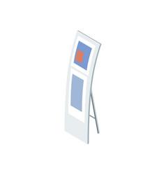 Information display board isometric element vector