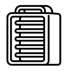 Ir electric heater icon outline style vector