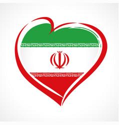 Iran love emblem colored vector