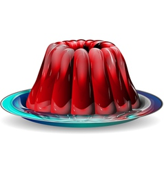 Jelly on plate vector