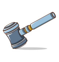 judge gavel icon cartoon style vector image