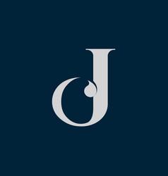 Letter j c icon logo design template vector