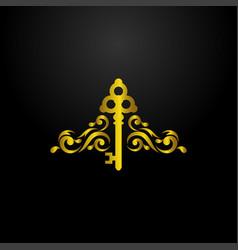 luxury key logo vector image