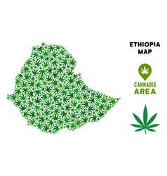 Marijuana mosaic ethiopia map vector
