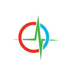 medical heartbeat logo image vector image