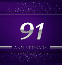Ninety one years anniversary celebration design vector