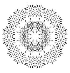 Pattern of snowflakes contours vector