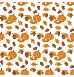 Pumpkin pie pattern vector