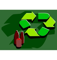 Recycling facility vector
