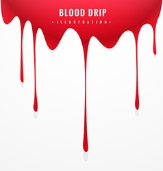 Red blood drip vector