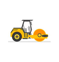 road roller heavy equipment road roller asphalt vector image