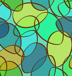 Seamless pattern of abstract ellipses vector image
