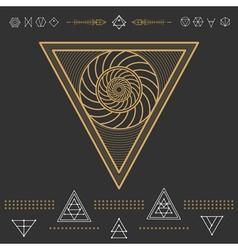 Set geometric hipster shapes 9znl72211black vector