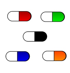 Set of medical pills vector image