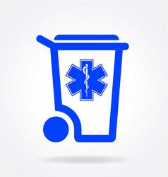 Simple medical waste symbol logo vector