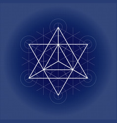 Star tetrahedron from metatrons cube sacred vector