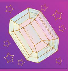 Stone crystalline gem and precious gemstone for vector