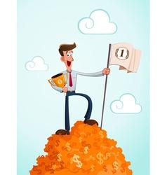 successfull businessman vector image