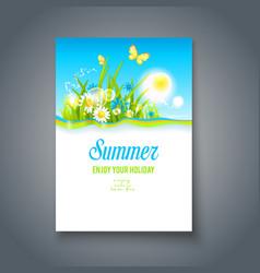 Summer nice motif vector