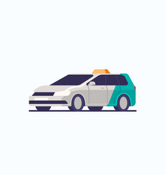 taxi car icon cab automobile passenger vector image