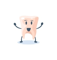 Tooth Primitive Style Cartoon Character vector image
