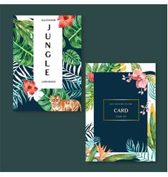 Tropical card invitation design summer vector