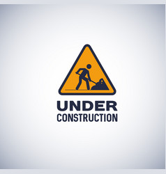 Under construction sign isolated icon vector