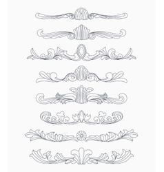 Vintage divider patterns vector image