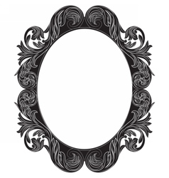 Vintage Imperial Baroque Rococo round frame vector